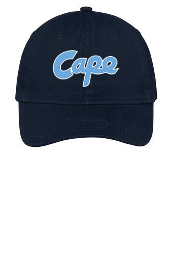 Brushed Twill Low Profile Hat (Cape Script Embroidered)