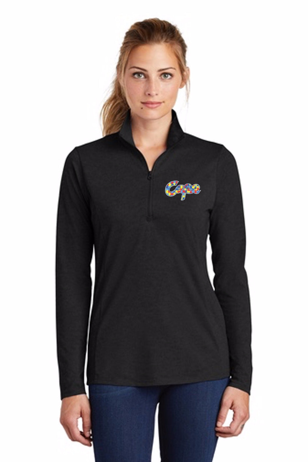 Sport-Tek ® Ladies PosiCharge ® Tri-Blend Wicking 1/4-Zip Pullover (NEW!)