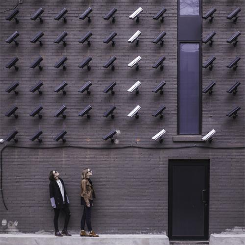 real security cameras on the wall