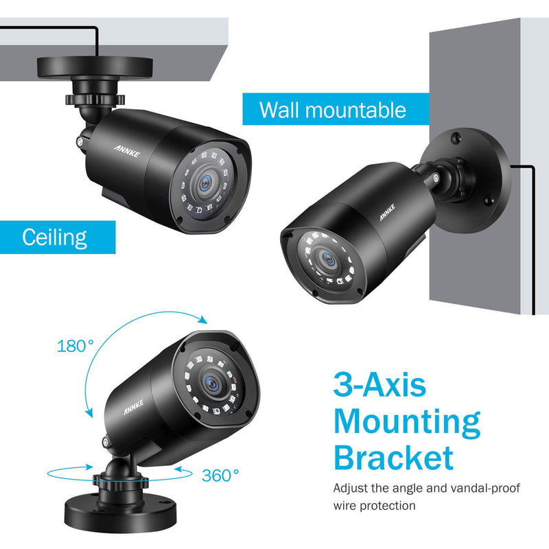 1080P HD Weatherproof Cameras and H.264+ DVR CCTV Camera System