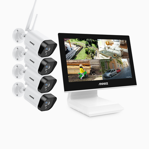ANNKE WL400 - 1080p Full HD WiFi Security Camera System with LCD Monitor