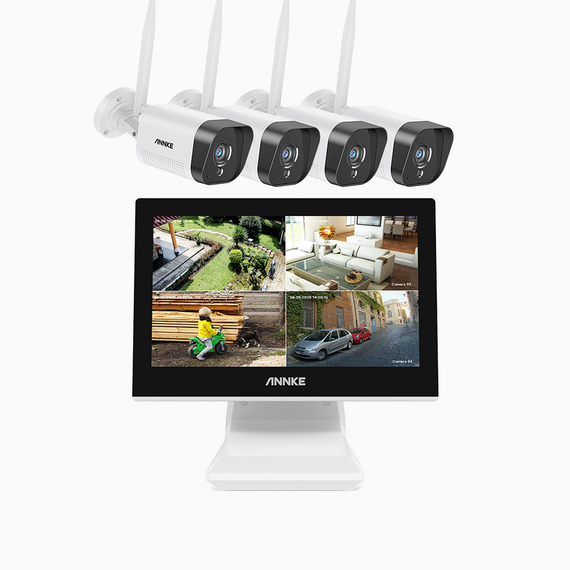 WL400 - 1080p Full HD WiFi Security Camera System with LCD Monitor