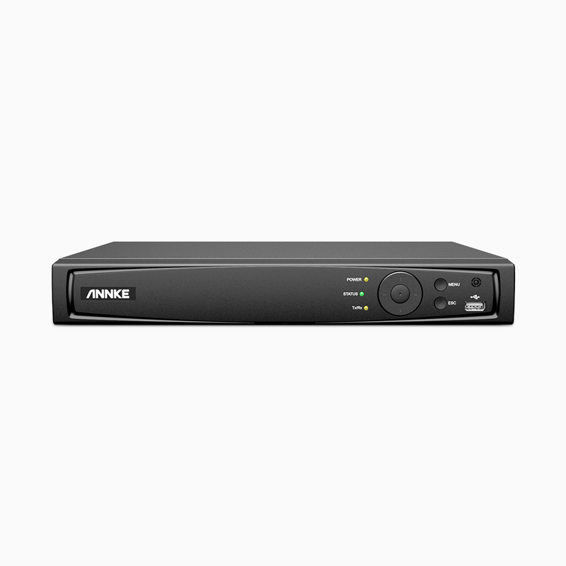 8/16 Channel 4K All-in-One PoE NVR for 24/7 Video Recording