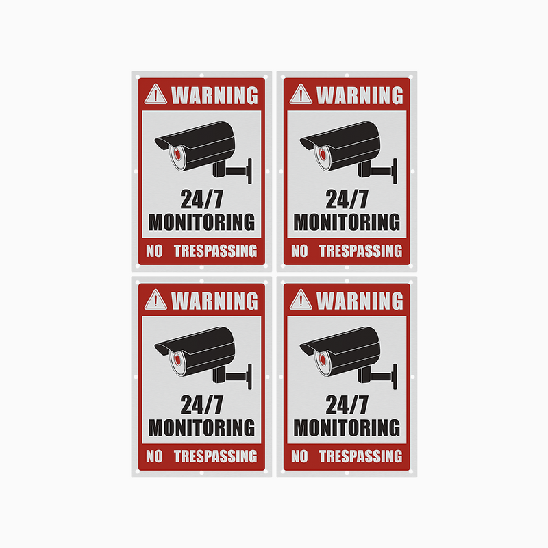 Outdoor Rust-Free Aluminum Surveillance Signs for Home & Business with UV Protection & Ultra Long Service Life