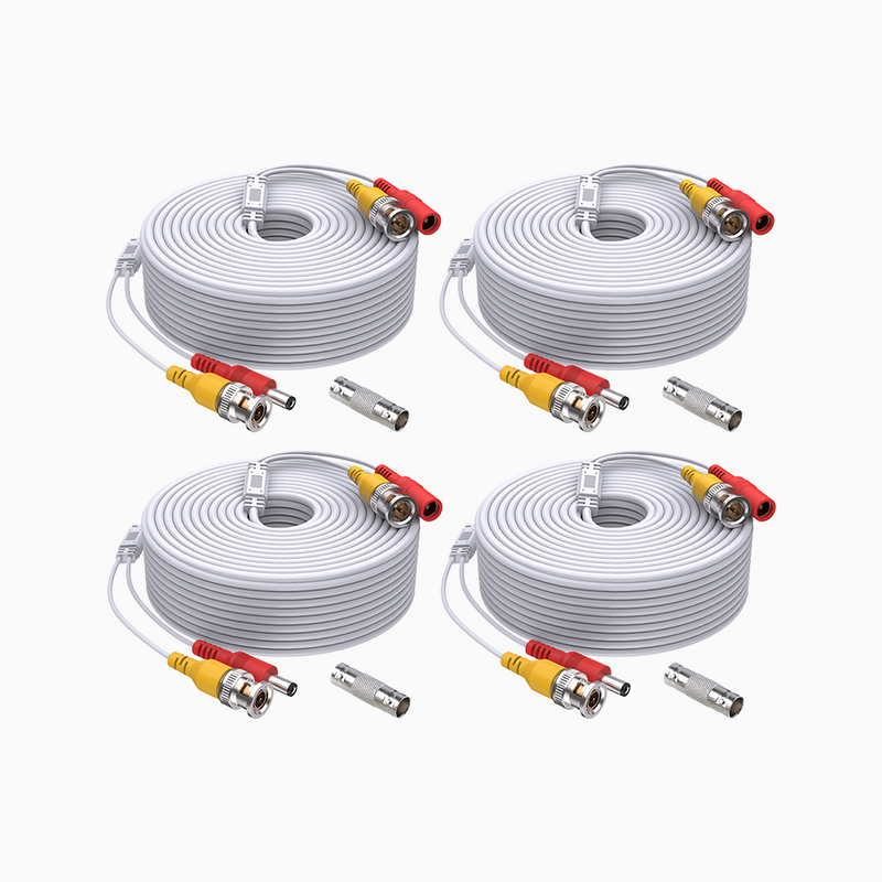 100/150 Feet (30/45 Meters) 2-in-1 Video Power Cable