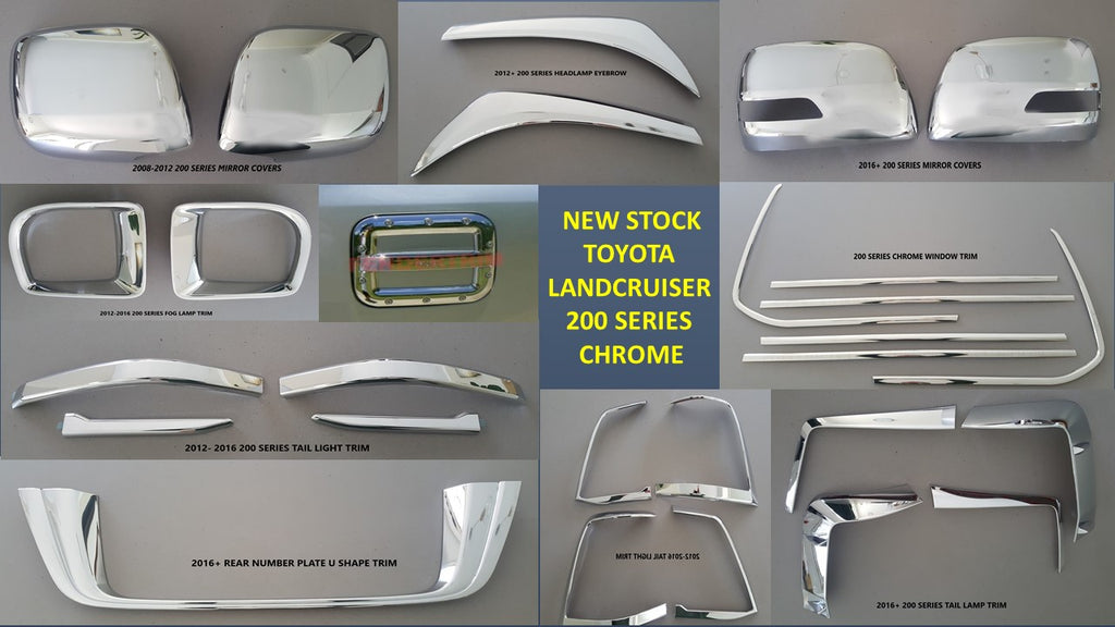 Toyota Landcruiser Chrome Accessories for 100 series 1998-2006 & 200 series 2007-2020