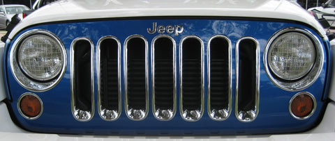 Head Lamp Trim to suit Jeep Wrangler JK 2007-2010 - Chrome