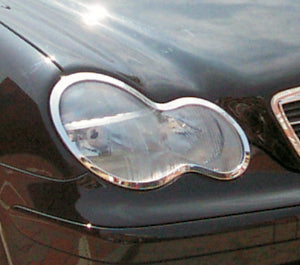 Head Lamp Trim to suit Mercedes Benz C-Class W203 2000-2007 -Chrome