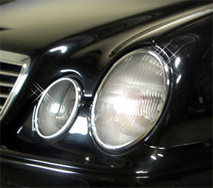 Head Lamp Trim to suit Mercedes Benz CLK W208  1997-2002 - Chrome