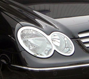 Head Lamp Trim to suit Mercedes Benz CLK W209 2002-2009  - Chrome