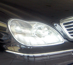 Head Lamp Trim to suit Mercedes Benz S-Class W220 1998-2005 - Chrome
