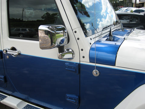 Mirror Covers to suit Jeep Wrangler JK 2007-2017 - Chrome