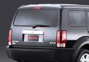 Rear Number Plate Eyebrow to suit Dodge Nitro 2007-2012 - Chrome