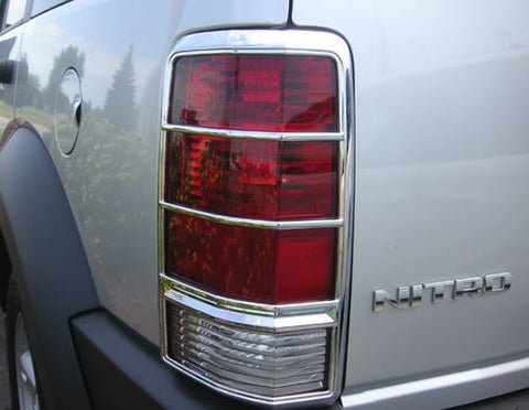 Tail Lamp Trim to suit Dodge Nitro 2007-2012- Chrome