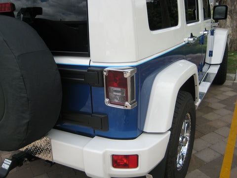 Tail Lamp Trim to suit Jeep Wrangler JK 2007-2010- Chrome