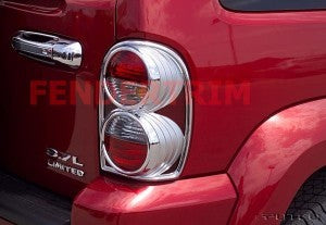 Tail Lamp Trim to suit Jeep Cherokee KJ 2002-2007 - Chrome