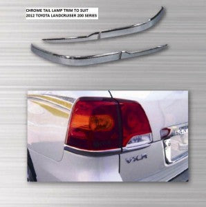 Tail Lamp Trim to suit Toyota Landcruiser 200 series (base) 2012-2015- Chrome