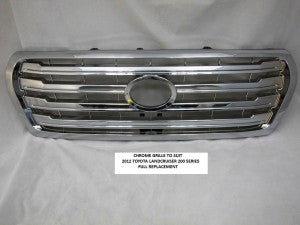 Chrome Billet Grille to suit Toyota Land Cruiser 200 Series 2012-2015