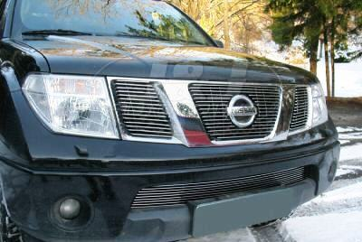 Billet Grille with logo cutout to suit Nissan Navara D40 STX 2010-15 / ST 2012-15 / Pathfinder 08+ - upper 2010-2015