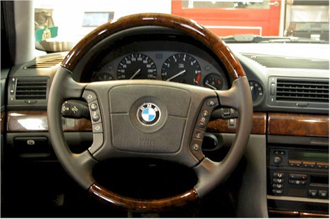 Steering Wheel to suit BMW E46 4 Spoke W/burl