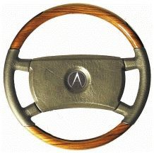 Steering Wheel to suit Mercedes Benz W107 SL/SLC - Zebrano with Black Leather Large Shaft