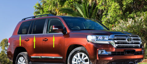 Window Trim to suit Toyota Landcruiser 200 series L-Shape 2008-2020 - Chrome