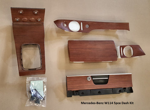 Wood Kit - refurbished Mercedes-Benz W114 5 piece kit in Zebrano - Call us for quotation