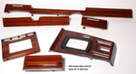 Wood Kit - refurbished Mercedes-Benz W116 6 piece kit in Zebrano - Call us for quotation
