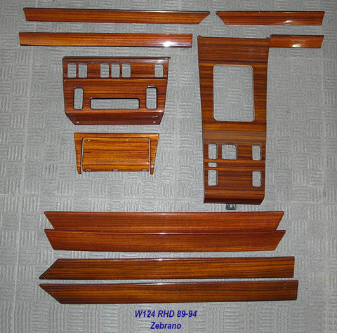 Wood Kit - refurbished Mercedes-Benz W124 12 piece kit in Zebrano - Call us for quotation
