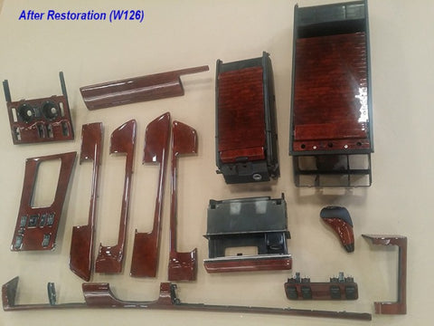 Wood Kit - refurbished Mercedes-Benz W126  kit in Burl Walnut - Call us for quotation