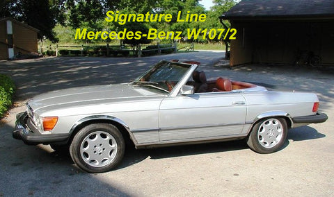 Wheel Arch Moulds to suit Mercedes Benz W107/2 SL/SLC (long version) 1971-1989