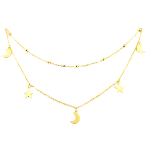Guiding Light Necklace | 18K Gold Dipped