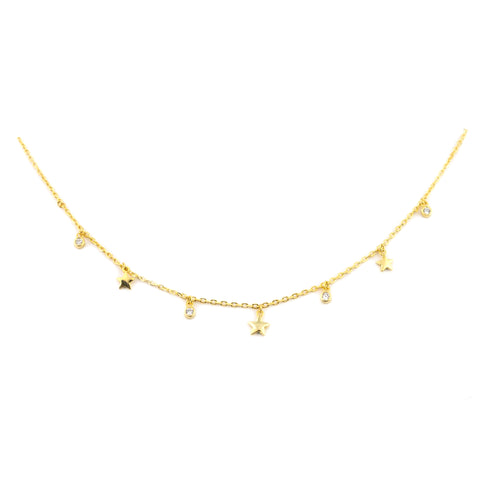 Wishing Stars Necklace | 18K Gold Dipped