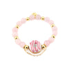 LOVEberry KARMIC DONUT Bracelet | Rose Quartz | 18k Gold Dipped
