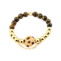 CELEBRATION TOUGH COOKIE Bracelet | Tiger Eye | 18k Gold Dipped