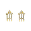 Shooting Stars Earrings | 18K Gold Dipped | Crystal Clear