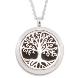 Tree of Life Aromatherapy Necklace (Silver)