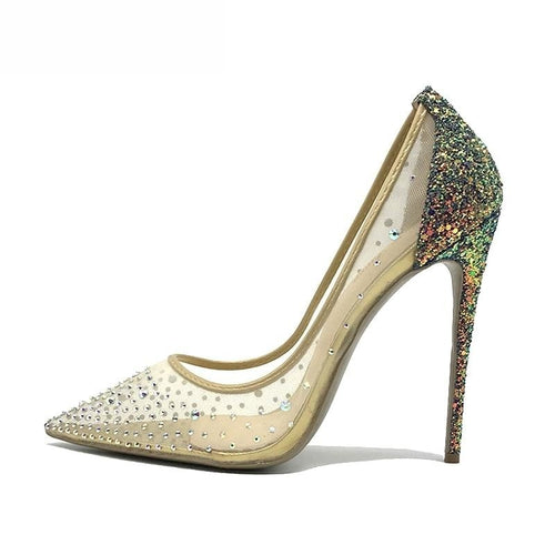 Naomi rainbow glitter stiletto