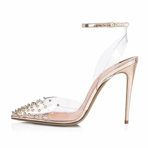 Pertunia gold studded stiletto
