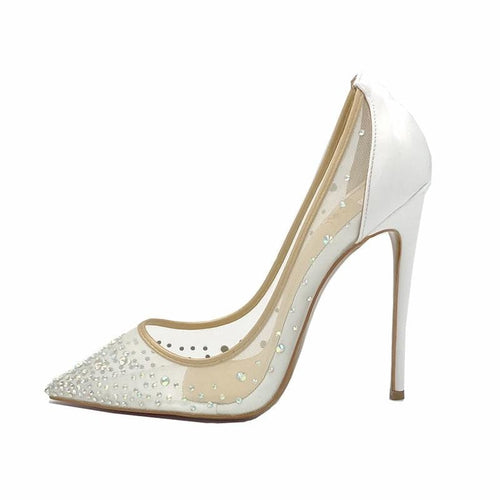 Marina white crystal stiletto
