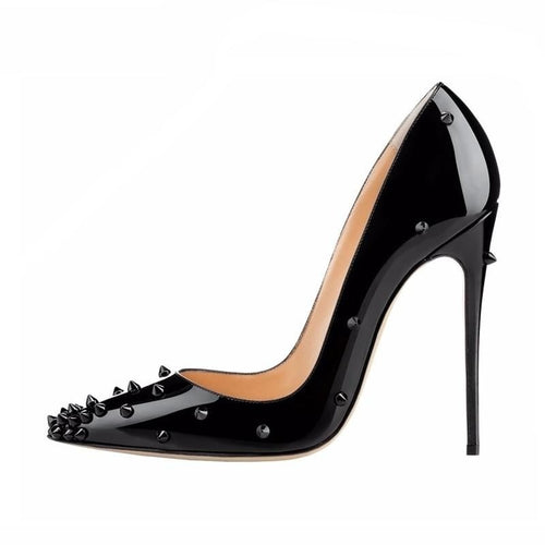 Andrea black studded stiletto