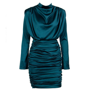 Layla green ruched mini dress