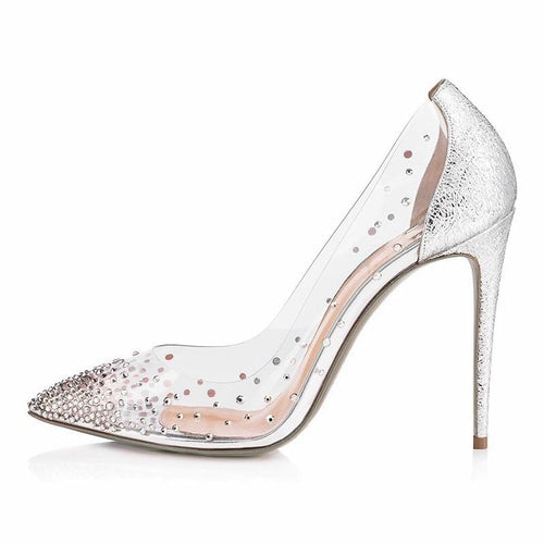 Christy silver crystal stiletto