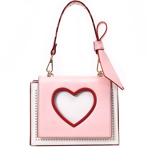 Jessie Pink leather handbag