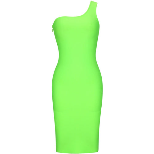 Ava one shoulder fluorescent midi