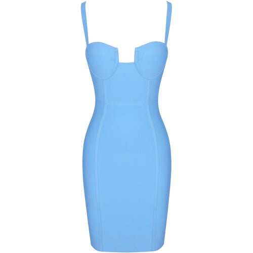 Nora blue bandage dress