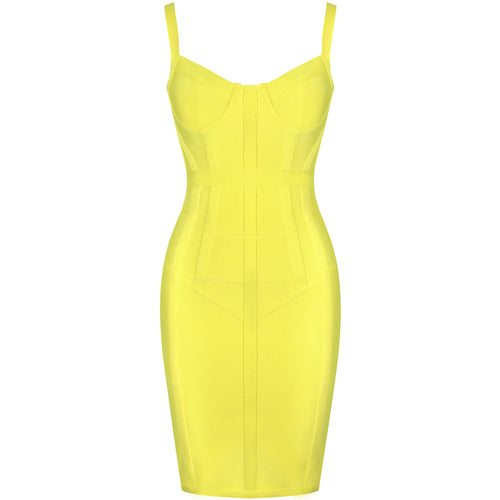 Kat yellow bandage dress