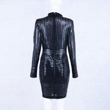Load image into Gallery viewer, Luxe Shai high neck PU leather bodycon dress
