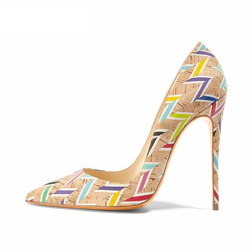 Falon patterned stilettos
