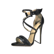 Load image into Gallery viewer, Malika studded stiletto sandals